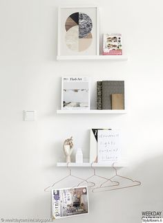 Art shelves from Ikea