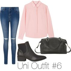 Uni Outfit #6 by meganlatte on Polyvore featuring polyvore fashion style