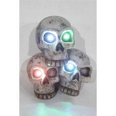 Holiday Living Lighted LED Skulls Décor