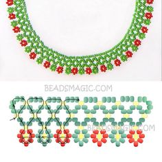 Com - Her Crochet Diy Necklace Patterns, Beaded Jewelry Patterns, Beaded Crafts, Jewelry Crafts, Handmade Jewelry, Beading Patterns Free, Beading Tutorials, Bead Jewellery, Seed Bead Jewelry