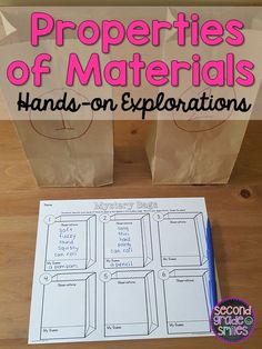 Looking for hands-on activities to practice identifying and categorizing materials and their properties? This science resource includes everything you need to teach this topic and assess your students& understanding, including easy-prep, hands-on ex Primary Science, Elementary Science, Science Classroom, Teaching Science, Science Education, Science Resources, Science Books, Science Lessons, Science Activities