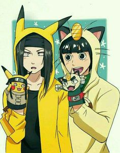Find images and videos about naruto, pokemon and pikachu on We Heart It - the app to get lost in what you love. Naruto Uzumaki Shippuden, Naruto Kakashi, Anime Naruto, Tenten Y Neji, Naruto Teams, Naruto Comic, Naruto Cute, Naruto Funny, Otaku Anime