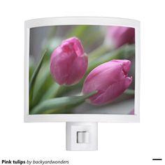 Pink tulips night lights