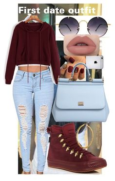 """first date outfit"" by anna-bigsis ❤ liked on Polyvore featuring Converse, Dolce&Gabbana, Spitfire and Bling Jewelry"