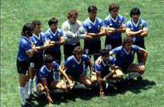 Formación del equipo argentino con maradona en 1986