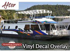 Houseboatgraphicsoverlayvinyldecalsboatgraphics House - Custom designed houseboat graphics