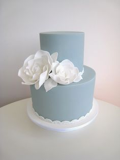 #blue #wedding #cake by Frosted Indulgence