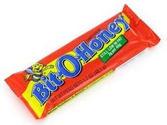 Bit O Honey (Candybars From Your Childhood). Bit-O-Honey is a chewy candy with almond bits blended into a honey flavored taffy. Retro Candy, Vintage Candy, Sweet Memories, Childhood Memories, Childhood Toys, Honey Candy, Candy Sweet, Sugar Candy, Old School Candy