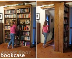 Secret door bookcase - this would be awesome!