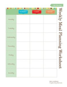 3 Free Printable Meal Planners: Weekly Meal Planner