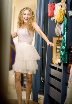 ballerina dress... carrie bradshaw!