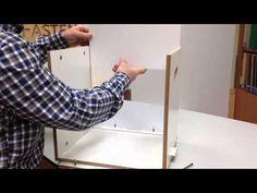 Estantería modular fastenbox - armar módulo - YouTube Plywood Shelves, Box, Youtube, Furniture, Home Decor, Modular Shelving, Homemade Home Decor, Home Furnishings, Boxes