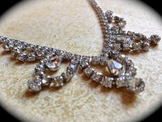 Art Deco rhinestone necklace. Looking for info about this necklace.