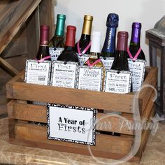 bridal shower wine crate gift set with 8 tags and shower card wine not included wedding milestones