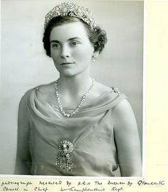 Photograph: HRH Duchess Of Gloucester. CoIonel In Chief,  Northamptonshire  Regiment.   Regimental Journal July 1937