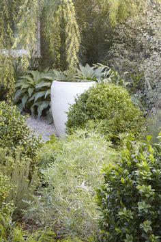 texture mix in green garden, by Flora Grubb