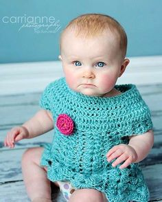 Baby's Bright Crochet Dress from RAKJpatterns