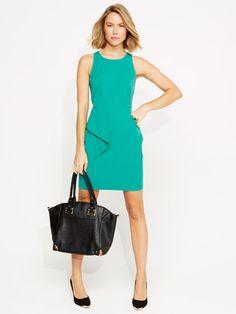 Tropfest Jade Peplum Dress