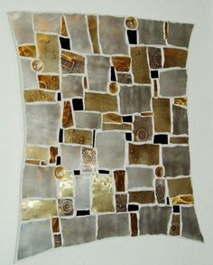 Mosaic Amber and Gray Mosaic Diy, Mosaic Crafts, Mosaic Projects, Mosaic Wall, Mosaic Glass, Mosaic Tiles, Fused Glass, Stained Glass, Glass Art