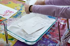 Raised salt painting is an all-time favorite kids art activity that is loved by all ages from toddlers on up. Plus it uses materials you already have, including salt, glue, and watercolor paint. Preschool Art Activities, Painting Activities, Toddler Activities, Craft Projects For Kids, Diy For Kids, Art Projects, Kids Fun, Craft Ideas, Salt Painting