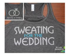 SWEATING Flowy Tank workout jersey 2sided by RiverImprints on Etsy, $26.00