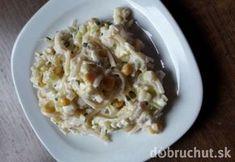 Zelerový šalát Potato Salad, Cauliflower, Cabbage, Oatmeal, Grains, Rice, Potatoes, Vegetables, Breakfast