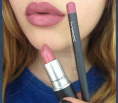 MAC Soar lip liner and Brave lipstick