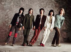 Leaning Stones: Keith Richards, Charlie Watts, Mick Jagger, Bill Wyman and Mick Taylor in ...