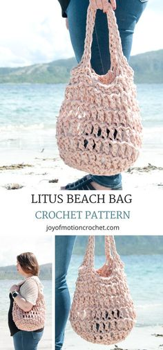 Litus Beach Bag Crochet Pattern. Crochet beach bag easy. Crochet beach bag tutorial. Crochet beach bag tote. Crochet beach handbag. Crochet beach bag DIY. #crochetbag #crochetbeachbag #crochetpattern #crochet #crochetpatterns