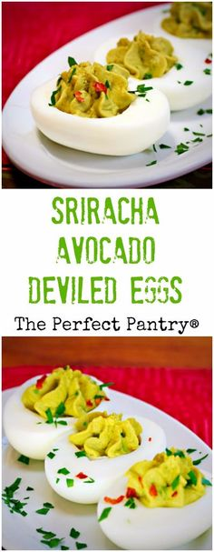 Sriracha avocado deviled eggs: sure to add some zing to your next ...