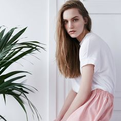 Another shot from our new LOOKBOOK  Spring/Summer collection is available at theodderside.pl #lookbook #spring #summer #new #newbrand #lessismore #simple #beauty #easy #basic #skirt #tshirt #ootd #outfit #essential