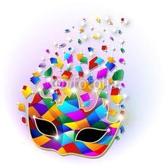 #Glitter #Bright #Harlequin #Carnival #Party #Mask-#Vector © bluedarkat     http://us.fotolia.com/id/28618324/partner/200929677