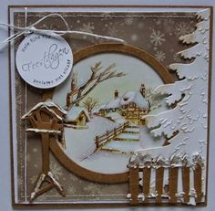 It 573 Tiny& Winter Garden 2 Collectable Col Craftables: CR (Tag/kerstb. Fall Cards, Winter Cards, Xmas Cards, Holiday Cards, Christmas Card Crafts, Handmade Christmas Decorations, Beautiful Christmas Cards, Beautiful Handmade Cards, Scrapbooking