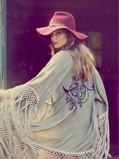 Spell and the Gypsy Collective Stag Amulet Kimono at Free People Clothing Boutique