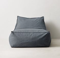 Believe It or Not: 10 Surprisingly Stylish Beanbag Chairs. Distressed Canvas Bean Bag Lounger at RH Teen. Beanbag chairs: that dream of childhood, that nightmare of adulthood. Modern Bean Bags, Classic Bean Bags, Modern Bean Bag Chairs, Diy Bean Bag, Cool Bean Bags, Ikea Bean Bag, Teen Lounge, Bean Bag Lounger, Bean Bag Sofa