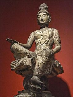 Bodhisattva Tang Dynasty China 8th century CE Limestone with traces of polychromy