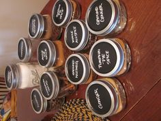 I've been converting my pantry to mason jar storage and it's brilliant!  Love the idea of painting chalkboard paint on lids to label!