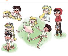 """""""Credit to the artists just some random starco cuteness 💜"""" Jagodibuja Comics, Star E Marco, Starco Comic, Star Wars, Gothic Anime, We Bare Bears, Couple Cartoon, Star Butterfly, Star Vs The Forces Of Evil"""