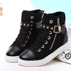 adidas high tops black and gold womens shoe Sneakers Mode, Casual Sneakers, Sneakers Fashion, Casual Shoes, Fashion Shoes, Shoes Sneakers, Dr Shoes, Cute Shoes, Me Too Shoes