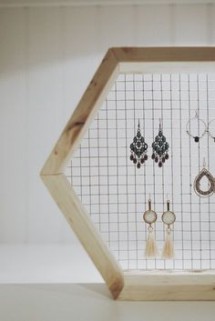 Diy Earing Holder, Diy Jewelry Holder, Hanging Jewelry Organizer, Jewelry Organization, Earing Organizer, Jewelry Hanger, Jewelry Wall, Jewelry Stand, Boho Jewelry