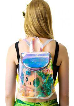 #unif #clear #glitter #seethrough bag: http://www.dollskill.com