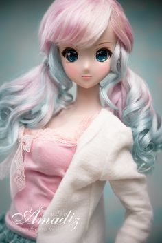 """Today arrived my new doll - Smart Doll Kizuna by Danny Cho. She is absolutely amazing! Her name is Nanami (as my favorite character from anime """"Revolution girl Utena"""", but her own image is not ready now -__-"""")  Besides the fact she will be my new wonderful model for many photos of wigs that we make, and of course this is a great New Year's gift! I'm so happy =)   And we have ready wigs for Smart Dolls and Dollfie Dream and more photos of Nanami-chan =)…"""