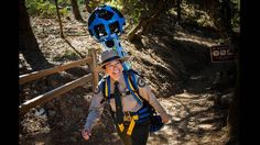 Three months ago, a group of Google contractors began walking the trails of California parks wearing electronic equipment that jutted above their heads and sprouted cameras from metal globes.