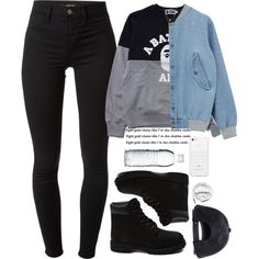 Timberland Boots, an American Icon Timbs Outfits, Cute Swag Outfits, Dope Outfits, Outfits For Teens, Trendy Outfits, Girl Outfits, Fashion Outfits, Tomboy Winter Outfits, Swag Fashion