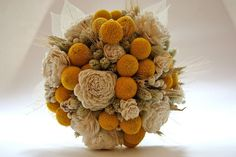 Milk and Honey Bridal Bouquet by FayeMarie on Etsy, $85.00