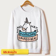 New Unicorn Print Sweatshirts Autumn 2016 Casual Pullovers Female Sweatshirt Women Clothing Sudaderas Full Sleeve Hoody