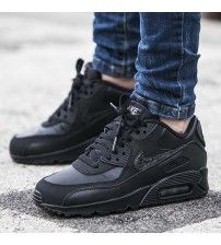 sports shoes 2ceed 7a875 Air Max 90 Gs Leather Black Trainer Outlet