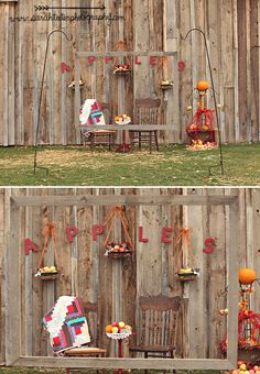 fall photo booth backdrop ideas | Handmade Hilarity — Inspiration for Photo Booths and Backdrops