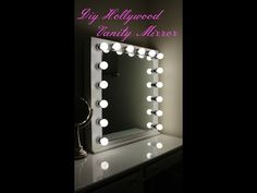 DIY Hollywood Vanity Mirror With Lights - YouTube