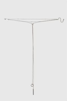 Silver look multi row choker with long drop front. Total length measures 28cm, drop 36cm. By Freedom at Topshop.